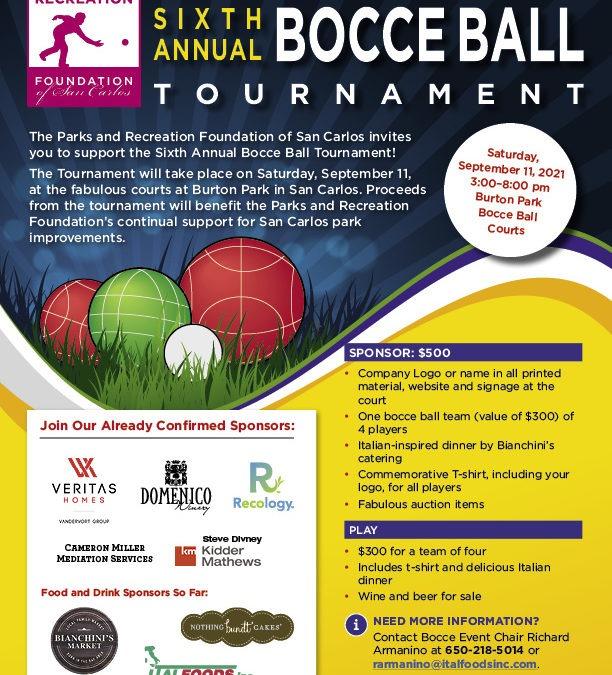 6th Annual Bocce Ball Tournament
